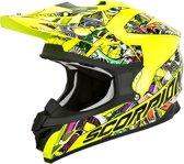 Scorpion Crosshelm VX-15 Evo Air Vector Neon Yellow/Multi-XL