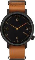 Komono Magnus II Cognac horloge dames en heren - bruin - messing