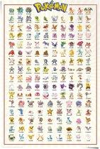 REINDERS Pokemon - Kanto 151 - Poster 61x91,5cm - wanddecoratie, muurdecoratie, kinderkamer