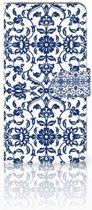 Huawei Mate 8 Uniek Boekhoesje Flower Blue