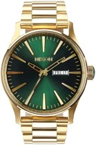 Nixon The Sentry SS Gold Green Sunray horloge A3561919