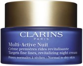 Clarins Multi-Active Night Nachtcrème - Normale tot droge huid - 50 ml