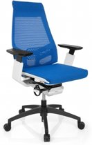 hjh office Genidia Smart White - Bureaustoel -  Netstof - Blauw