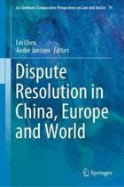 Dispute Resolution in China, Europe and World