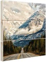 Canadees berglandschap Hout 30x20 cm - klein - Foto print op Hout (Wanddecoratie)