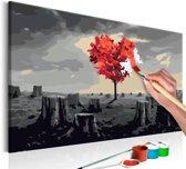 Doe-het-zelf op canvas schilderen - Hartenboom 60x40