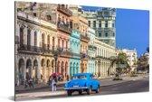 Kleurrijke Spaanse architectuur bij Cuba in Noord-Amerika Aluminium 180x120 cm - Foto print op Aluminium (metaal wanddecoratie) XXL / Groot formaat!