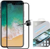FULL COVER iPhone X tempered glass screenprotector  zwart