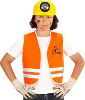 Oranje Wegwerker Vest, Kind | Maat 140 | Carnaval kostuum | Verkleedkleding