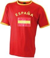 Rood heren shirt vlag Espana 2xl