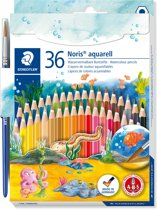 Noris aquarell kleurpotlood - set 36 st + penseel