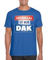 Blauw Helemaal uit mijn dak t-shirt voor heren - Party t-shirts S