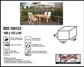 RDS180155 Tuinsethoes rechthoekig 180 x 155 H: 90 cm taupe