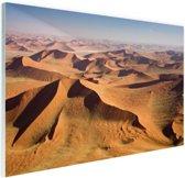 FotoCadeau.nl - Namibie Woestijn Glas 90x60 cm - Foto print op Glas (Plexiglas wanddecoratie)