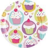 Amscan Feestborden Cupcake 17,7 Cm Rond 8 Stuks