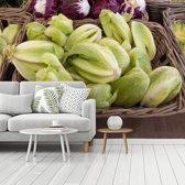 Fotobehang vinyl - Harten van bindsla op boerenmarkt breedte 535 cm x hoogte 400 cm - Foto print op behang (in 7 formaten beschikbaar)