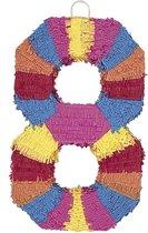 """Pinata cijfer 8 - Feestdecoratievoorwerp - One size"""
