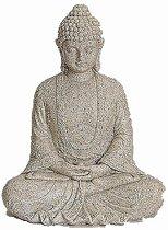 Boeddha beeld marmer look 23 cm