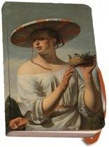 Notitieboek A6 Meisje met een brede hoed, Caesar van Everdingen