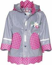 Kinder regenjas navy/roze design 92 (18-24 mnd)