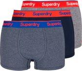 Superdry Onderbroek - Maat M  - Mannen - blauw/grijs/rood