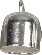 Eindkap, d: 8 mm, l: 11 mm, verzilverd, 6stuks