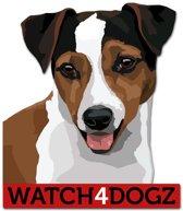 Jack Russel Terrier sticker (set van 2 stickers)
