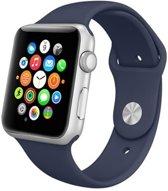 Apple watch 42mm / 44mm rubberen sport bandje - Donker blauw