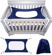 Babyhangmat Box - Baby Park - Baby Nestje - Kraamcadeau - Wieg hangmat -  Verstelbare Metalen Riem Gespen - Donkerblauw