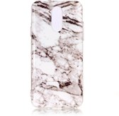 Mobigear Marble Soft TPU Wit LG Q7