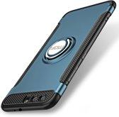 Let op type!! MOFI voor mysterieuze serie Huawei Honor 9 schokbestendige beschermende achtercover hoes met magnetische draaibare ringhouder (blauw)