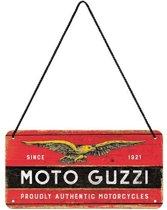 Hangend Moto Guzzi Metalen Bord 10 x 20 cm