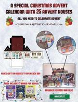 Christmas Advent Calendar 2019 (A special Christmas advent calendar with 25 advent houses - All you need to celebrate advent)