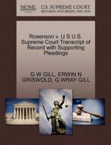 Rosenson V. U S U.S. Supreme Court Transcript of Record with Supporting Pleadings