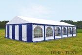 Partytent 6x12 Premium PVC Brandvertragend | Blauw / wit