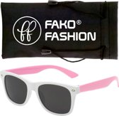 Fako Fashion® - Kinder Zonnebril - Duo - Wit/Roze