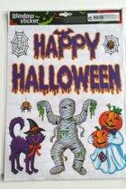Halloween Raamstickers Happy Halloween