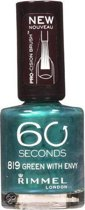 Rimmel London 60 Seconds Nagellak - Green with Envy