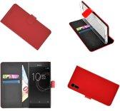 Sony Xperia XZs Rood effen Wallet Bookcase Hoesje
