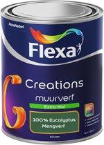 Flexa Creations - Muurverf Extra Mat - 100% Eucalyptus - Mengkleuren Collectie- 1 Liter