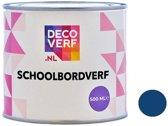 Decoverf schoolbordverf donkerblauw, 500ml