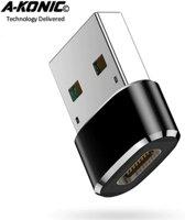 A-Konic© USB-C naar USB convertor | opzetstuk | office | USB 3.1 to USB C HUB | pc | laptop | USB C naar USB A female | telefoon | adapter |Surface | Dell | HP | Samsung | USB-A | Lenovo