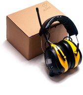 Roxiq oorkappen met radio EPM1 –  Professionele Gehoorbeschermer met MP3 radio en AUX ingang -  digitale FM radio – Gehoorkappen Inclusief noise cancelling