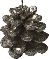 Deco Kaars glitter dennenappel Large - 8x8cm - Alldeco