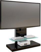 Hubertus Meble Marino - Tv-meubel - Zwart - Hout/Glas
