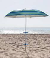Kleurrijke Parasol Model 180 Zandboor - Draagtas - UV bescherming - Kantelbaar