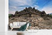 Fotobehang vinyl - Architectuur van de Borobudur tempel breedte 360 cm x hoogte 240 cm - Foto print op behang (in 7 formaten beschikbaar)