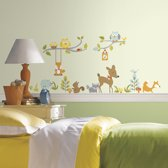 RoomMates Happi Woodland Fox & Friends Branch - Muursticker