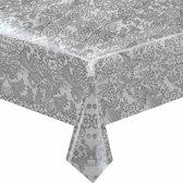 MixMamas Tafelzeil Paraiso/Barok - 120 x 270 cm - Zilver