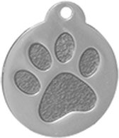 Rond Paw Groot Zilver